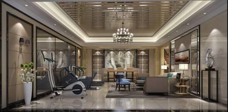 豪华型140平米别墅港式风格健身房装修效果图