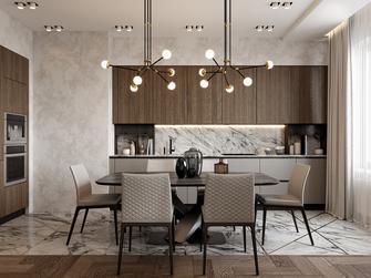 5-10万80平米一室一厅英伦风格餐厅效果图