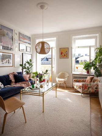 经济型50平米一室一厅田园风格客厅欣赏图