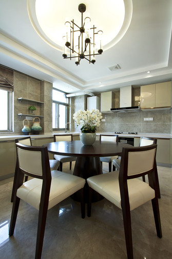 富裕型120平米三室两厅中式风格厨房设计图