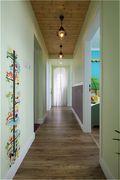 80平米田园风格走廊欣赏图