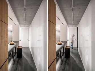 10-15万80平米现代简约风格走廊装修图片大全