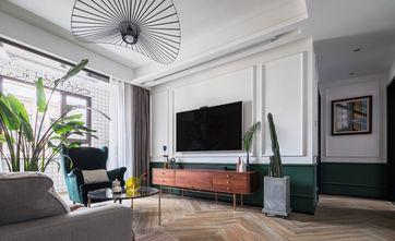 90平米三室一厅混搭风格客厅装修效果图