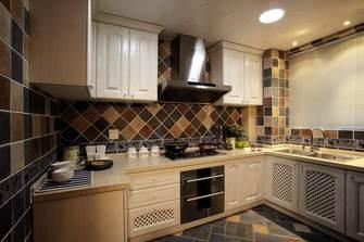 富裕型140平米三室两厅地中海风格厨房设计图