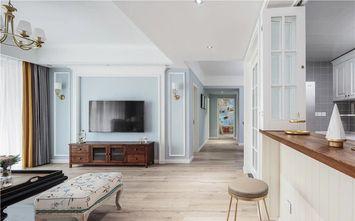 富裕型100平米三室两厅美式风格客厅效果图