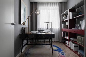 富裕型90平米三室两厅中式风格书房欣赏图