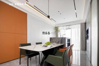 130平米三室两厅轻奢风格餐厅装修图片大全