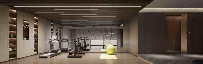 豪华型140平米别墅轻奢风格健身房装修效果图