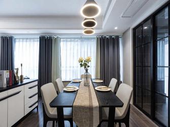 富裕型三室两厅现代简约风格餐厅图