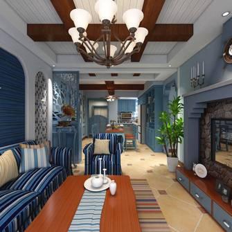 富裕型80平米三地中海风格客厅效果图