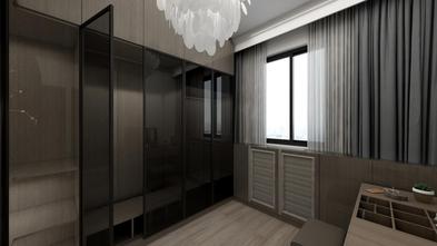 经济型90平米三室两厅现代简约风格衣帽间图