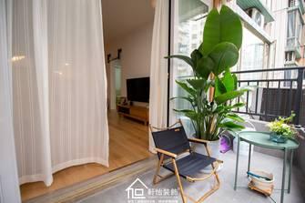 富裕型60平米公寓日式风格阳台图