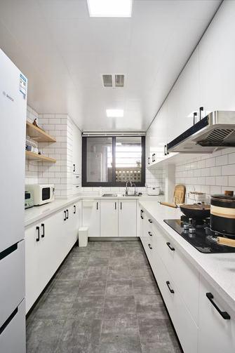 90平米三室一厅日式风格厨房装修案例