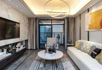富裕型110平米三室两厅欧式风格客厅装修案例