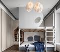 豪华型140平米四室两厅现代简约风格青少年房设计图