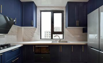 富裕型110平米三室两厅法式风格厨房图