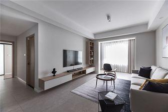 富裕型100平米三室一厅现代简约风格客厅装修图片大全
