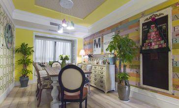 10-15万110平米三室一厅田园风格餐厅装修图片大全