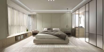豪华型140平米三室一厅现代简约风格卧室装修效果图