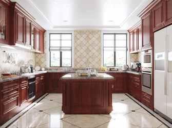 140平米三美式风格厨房图