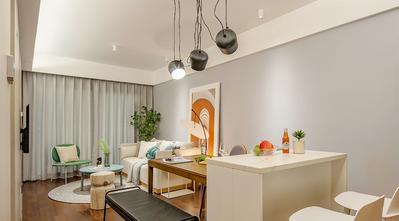 5-10万50平米小户型现代简约风格客厅装修图片大全
