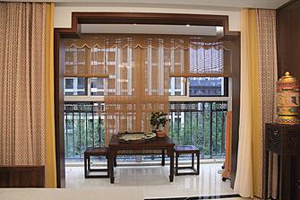富裕型110平米三室两厅中式风格阳台效果图