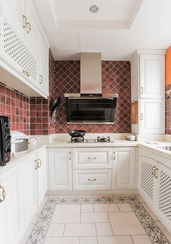 富裕型110平米三室两厅田园风格厨房装修图片大全