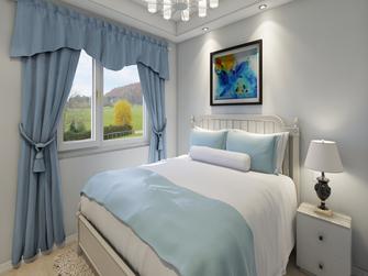 富裕型90平米三室两厅地中海风格卧室设计图