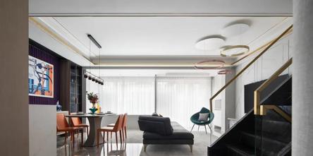 豪华型140平米复式现代简约风格客厅效果图