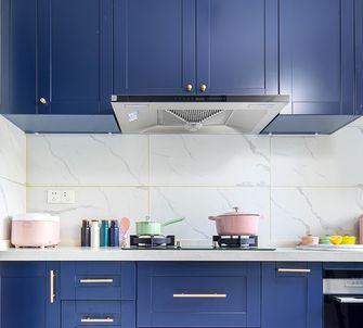 富裕型110平米三室一厅法式风格厨房图片