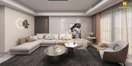 豪华型140平米四室两厅轻奢风格客厅效果图