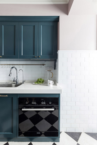 5-10万140平米三室两厅美式风格厨房效果图