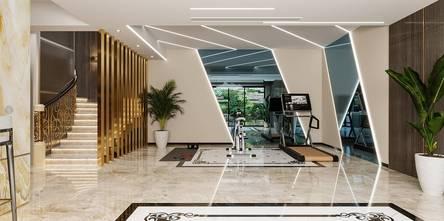 140平米别墅混搭风格健身房效果图