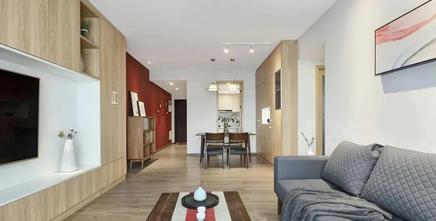 5-10万90平米三室一厅日式风格客厅图片大全