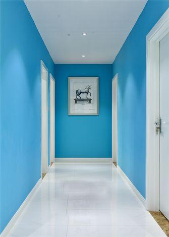富裕型80平米三室一厅北欧风格走廊装修图片大全
