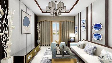 富裕型60平米一居室中式风格客厅装修图片大全