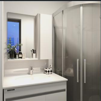 10-15万30平米小户型现代简约风格卫生间装修效果图