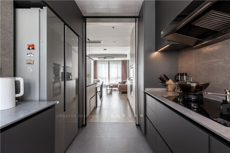 豪华型140平米复式现代简约风格厨房装修效果图