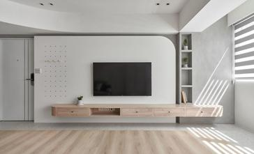 富裕型90平米三室两厅北欧风格客厅装修效果图