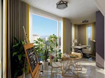 豪华型130平米四室两厅轻奢风格阳台装修效果图