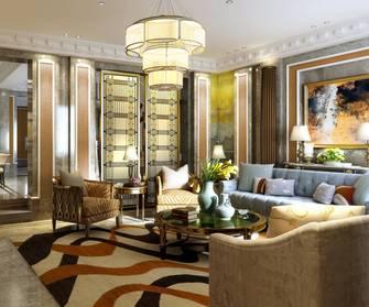 豪华型140平米别墅英伦风格客厅图
