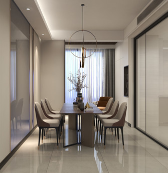 经济型140平米三室三厅中式风格餐厅图片大全