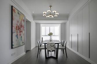 富裕型三室两厅现代简约风格餐厅图片大全