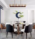 富裕型140平米四室两厅混搭风格餐厅装修案例