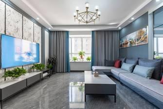 10-15万100平米三室一厅现代简约风格客厅欣赏图