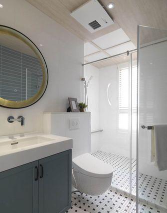 豪华型140平米三室一厅美式风格卫生间图片