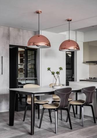 经济型120平米三室两厅现代简约风格餐厅图