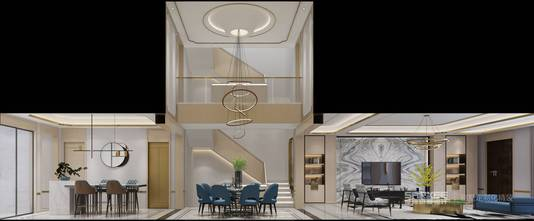 140平米四现代简约风格客厅装修图片大全