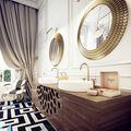 140平米新古典风格卫生间设计图