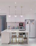 5-10万50平米公寓法式风格厨房设计图